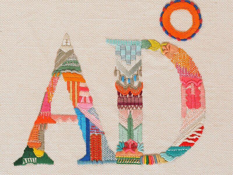 logotipo bordado - Revista AD