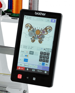 pantalla y software de maquina de bordar